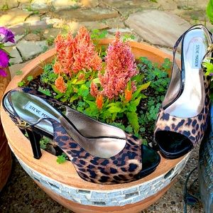 👠STEVE MADDEN leopard print women shoes size 9